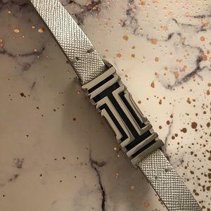 Tory Burch for Fitbit Metallic Leather Bracelet
